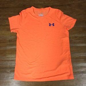 Orange running shirt from Under Armour